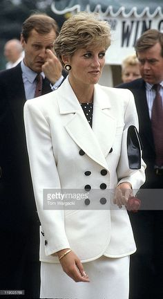 Princess Diana at Federation Cup Tennis Ceremonies - July 1991 Pictures