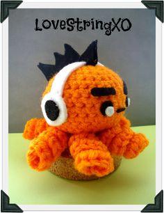 Punk Dj Octopus Crochet Amigurumi Plush / Handmade Gift for Valentine / Couples Gift. $16.00, via Etsy.