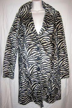 Betsey Johnson zebra striped Coat from the by BrooklynBoudoir