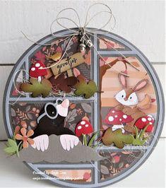 Anja Zom kaartenblog: Nog een keer de lay out mal Woodland Animal Nursery, Woodland Animals, Marianne Design Cards, Hamster, Nursery Room Decor, Animal Cards, Fall Cards, Paper Piecing, Diy Cards