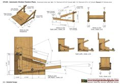 home garden plans: CF _ Chicken Feeder Plans Construction - How To Build A Chicken Feeder Chicken Shed, Backyard Chicken Coop Plans, Chicken Cages, Chicken Feeders, Chicken Garden, Building A Chicken Coop, Chickens Backyard, Automatic Chicken Feeder, Chicken Nesting Boxes