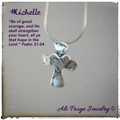 Handmade cross charm sterling silver charms by AliPaigeJewelry