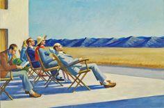 Edward Hopper (1882-1967), People in the Sun, 1960. oil on canvas.