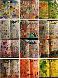 Great ideas for art journal calenders