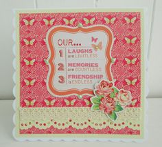Cottage chic Friendship card by picocrafts on Etsy, $3.50