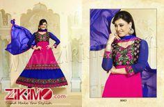 Heart Throbbing Blue And Pink Shweta Tiwari Designer Party Wear Suit
