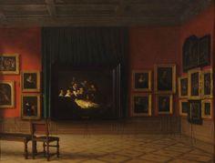 Interno della Sala Rembrandt al Mauritshuis nel 1884, Antoon Francois Heijligers (1884)   See more at:  http://www.tripartadvisor.it/la-ragazza-con-lorecchino-di-perla-palazzo-fava/