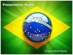 soccer ball powerpoint presentation template | football powerpoint, Presentation templates