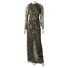 1stdibs - Geoffrey Beene Gold Lame Lace Evening Gown explore items from 1,700  global dealers at 1stdibs.com