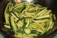 Sautéed Zucchini Julienne #lowcarb #vegetable #sidedish #garlic #weightwatchers .25 points