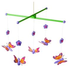Orange Tree Toys Butterfly Mobile : Baby Mobiles : Wooden Mobiles | Butterflies  Dragons