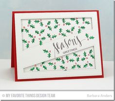 Hand Lettered Holiday, Stitched Cover-Up Companion - Diagonal Die-namics - Barbara Anders  #mftstamps