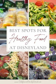Eating healthy at Disneyland is no problem at all! Disneyland offers many healthy food options, including vegan and vegetarian options, too! Here are the top spots to find great salads and other healthy food at Disneyland. #Disneyland #healthyeating Disneyland Restaurants, Disneyland Food, Disneyland California, Disney California Adventure, California Attractions, Healthy Food Options, Vegetarian Options, Healthy Salad Recipes, Healthy Choices