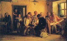 Tea Drinking in a Tavern:  Viktor Vasnetson, 1874; oil