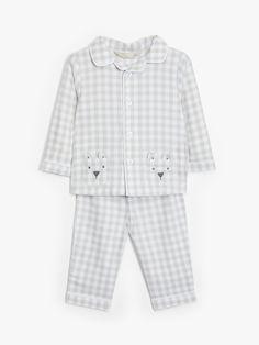 John Lewis & Partners Baby Check Woven Pyjamas, Light Grey at John Lewis & Partners Toddler Pajamas, Toddler Boys, Mamas And Papas, Pyjamas, Nightwear, John Lewis, Pajama Set, Long Sleeve Tops, Men Casual