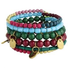 Beads & Charms Coil Bracelet.