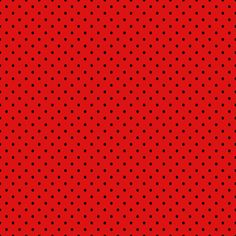Red with small black polka dots