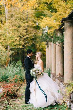 Romantic Blue and Gold Wedding Inspiration ⋆ Ruffled Fall Bouquets, Fall Wedding Bouquets, Fall Wedding Colors, Fall Wedding Dresses, Wedding Flowers, Prom Dresses, Fall Wedding Cakes, Fall Wedding Decorations, Wedding Blog