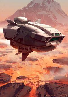 Lava Fields by Adam Taylor Spaceship Art, Spaceship Design, Spaceship Concept, Concept Ships, Arte Sci Fi, Sci Fi Art, Stargate, Aliens, The Stars My Destination