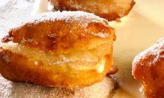 Receta de Bombas con crema de manzana