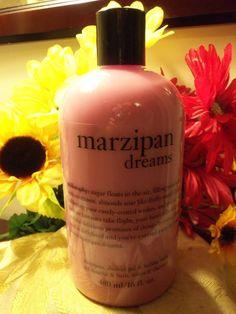 NWT Philosophy MARZIPAN DREAMS Shampoo, Shower Gel & Bubble Bath 16 oz. HTF! #Philosophy
