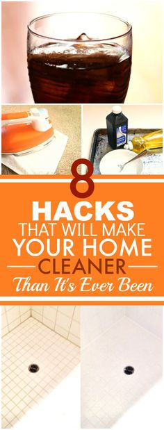 These 8 hacks that will make your house cleaner than it's ever been are BRILLIANT! I've just tried out a couple and my home looks GREAT! I'm SO happy I found this! Definitely pinning for later!