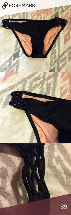 Black Swim Bottoms Cheeky bikini bottoms Xhilaration Swim Bikinis