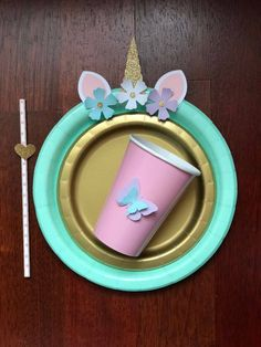10 Magical unicorn Light Pink Gold Glitter Birthday Table set plates straws cups 3d flowers by CHICPARTYStore on Etsy https://www.etsy.com/listing/583383276/10-magical-unicorn-light-pink-gold