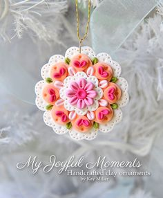 Handcrafted Polymer Clay Ornament by MyJoyfulMoments on Etsy, $6.00