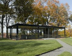 Philip Johnson's Glass House in New Haven, Connecticut, which the architect built in 1949