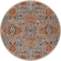 Hand-tufted Blue Kipper Wool Rug (8' Round)