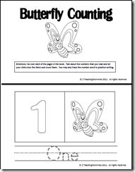 Butterfly Counting Printable Book