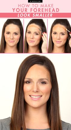 The magic makeup trick for minimizing a (slightly) larger forehead.