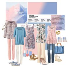 Designer Clothes, Shoes & Bags for Women Pink Pants Outfit, Floral Top Outfit, Cool Style, My Style, Womens Fashion, Fashion Trends, Fashion Ideas, Nice Dresses, Cute Outfits