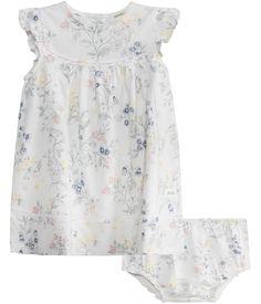 Blommig jersey klänning m tillhörande trosa