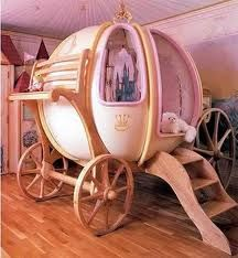 This is a Cinderella pumpkin bed.How cool can a bed be??