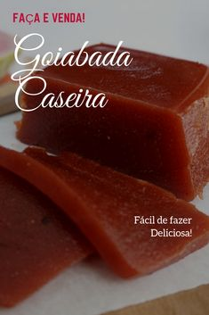 Goiabada Caseira Sweet Nothings, Preserves, Jelly, Low Carb, Pudding, Sweets, Brazil, Desserts, Recipe