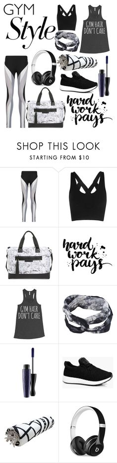 """Classy Gym Style"" by dottie0863 ❤ liked on Polyvore featuring No Ka'Oi, Balsa 201, Carlos by Carlos Santana, MAC Cosmetics, Boohoo and Beats by Dr. Dre"