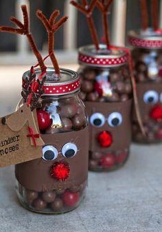 Basteln mit Süßigkeiten! Schöne Bastelideen mit Kindern für Weihnachten! - DIY Bastelideen