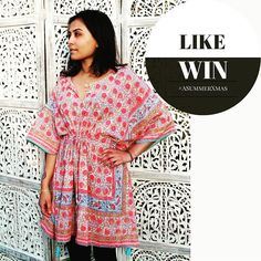 LIKE 2 #WIN an ABHA PONCHO: 100% cotton hand block-print floral kaftan with tassels and shimmery gold embellishments. Wear with linen trousers or crops jeans or simply over your swimwear. #fashionista #trend #styleoftheday #fashioninspo #stylegram #instafashion #bohostyle ##beachwear #travel #holidays #foreversummer #ASummerXmas