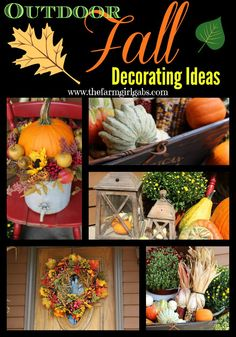 Great outdoor fall decorating tips from How Does Your Garden Grow? ~ www.thefarmgirlgabs.com