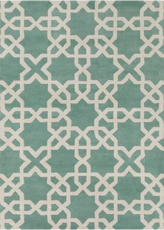 Davin - Patterned Rectangular Contemporary Wool Area Rug