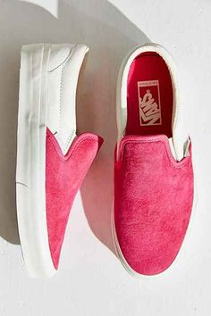 121e7f9f511 Vans Classic Pink Slip-On Sneakers Pink Sneakers