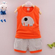 Cheap boys clothes set, Buy Quality summer boy clothes directly from China clothing sets Suppliers: Summer Boys Clothes Sets Kids Clothes Sleeveless Cartoon Elephant Vest + Striped Pants Boys Cotton Clothing Set Hot Selling China Clothing, Clothing Sets, Cartoon Elephant, Summer Boy, Mascot Costumes, Children Clothes, Striped Pants, Outfit Sets, Alibaba Group