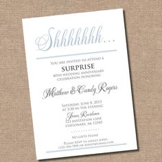 Items Similar To Surprise Party Invitation Digital File Only Printing Available Upon Request On Etsy