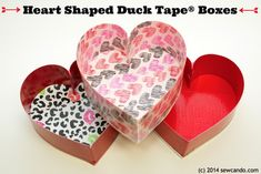 Ultra Easy Valentine's Day Craft: Heart Shaped Duck Tape®  Boxes