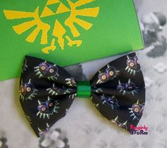 The Legend of Zelda - Majoras Mask  Hair bow / Bow tie handmade kawaii geeky  gamer Bow on Etsy, $7.67 CAD