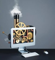 Steampunk ✠ Concept ✠ Digital Art  The Art Of Fantasy & Imagination Steampunk Style