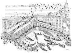 """Puzzle """"Venezia ponte Rialto"""". #formiche #puzzle #venice #italy #belpaese #gondola  #art"""