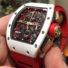 Your Daily Watch Fix 💉⌚️: Richard Mille 👀🔥💥 . Richard Mille, Mens Designer Watches, Luxury Watches For Men, Sport Watches, Cool Watches, Men's Watches, Fashion Watches, Tourbillon Watch, Expensive Watches